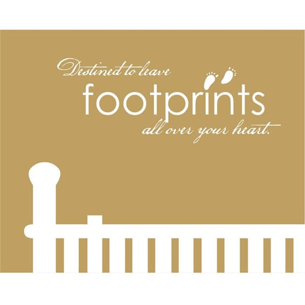 Vinyl Attraction 'Destined To Leave Footprints All Over Your Heart' Vinyl Decal