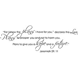 Vinyl Attraction 'Jeremiah 29:11' Vinyl Wall Decal