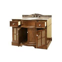 Granite Top 48- Inch Single Sink Bathroom Vanity