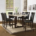 Camille Faux Marble 7-piece Modern Counter Height Dining Set