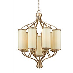 Maestro Silver and Gold Leaf 9-light Chandelier