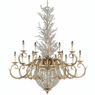 Garland Gold and Silver Leaf 18-light Chandelier