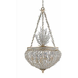 Garland Gold and Silver Leaf 6-light Pendant