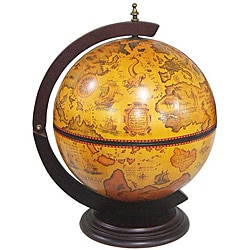 Merske 16.5-inch Italian Replica Tabletop Globe Bar