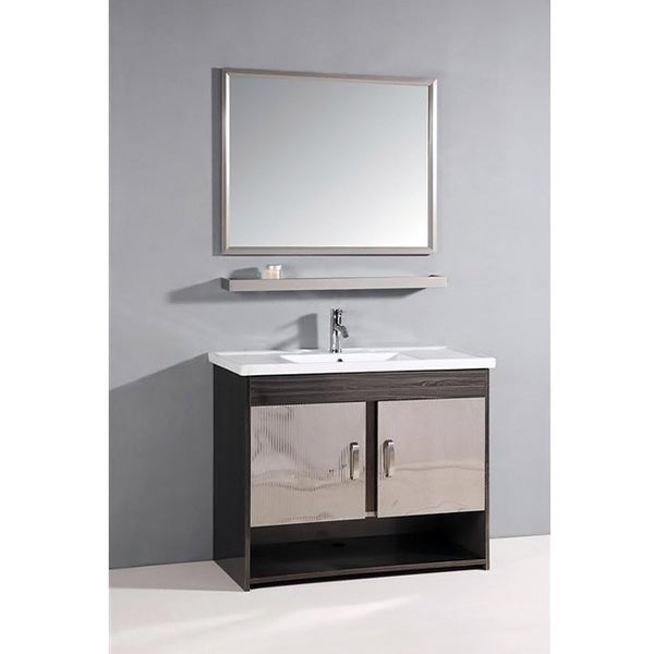 grey and white ceramic top 39 5 inch single sink bathroom vanity