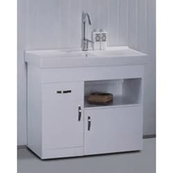 White Ceramic 31.5-inch Single-sink Bathroom Vanity