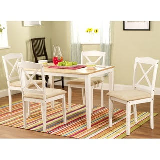 Simple Living White 5-piece Crossback Dining Set