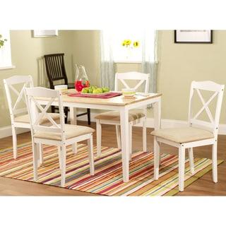 White 5-piece Crossback Dining Set