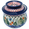 Polish Stoneware 4.4-inch Tall Butter Crock (Poland)