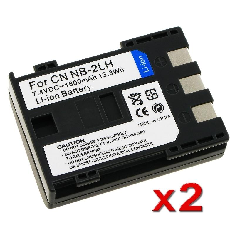 INSTEN Battery for Canon NB-2LH Rebel XT/ Xti (Pack of 2)