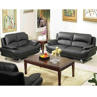 Alice Black Sofa and Loveseat Set