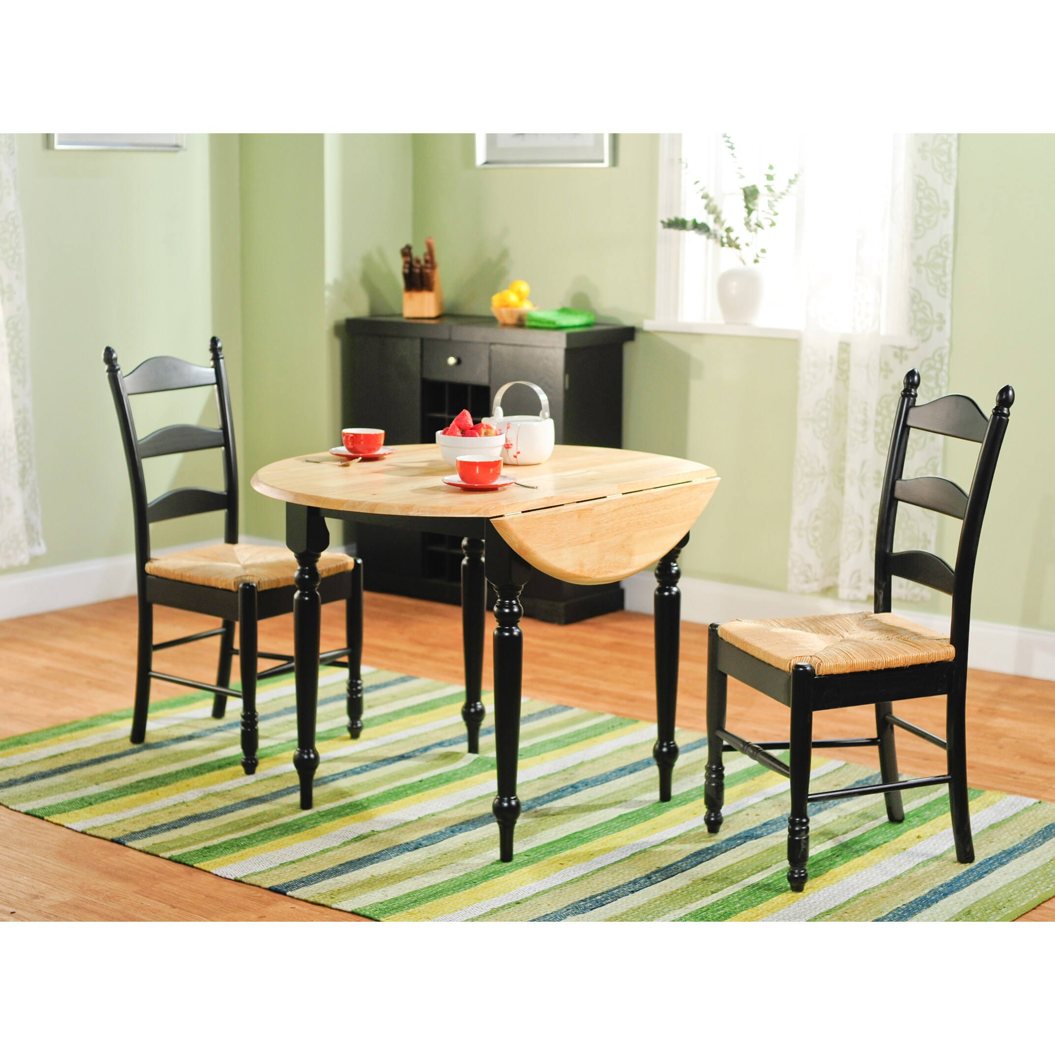 simple living 3 piece ladderback dining set 13716413