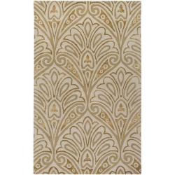 Bob Mackie Hand-tufted Gold Contemporary Boise New Zealand Wool Abstract Rug (5' x 8')