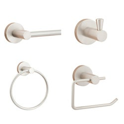 Sure-Loc Modern Satin Nickel 4-piece Bathroom Accessory Set