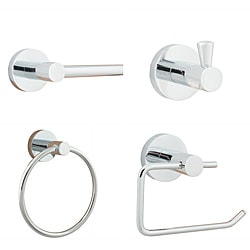 Modern Polished Chrome Bath Fixture Set