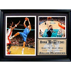 Dallas Mavericks Dirk Nowitzki Photo Stat Frame