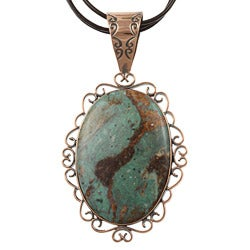 Southwest Moon Copper Mongolian Copper Mountain Jasper Necklace