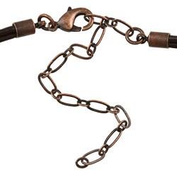 Southwest Moon Copper Snake Skin Jasper Filigree Necklace