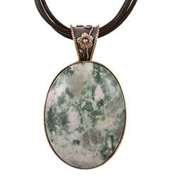 Southwest Moon Copper Nevada Lapis Filigree Necklace