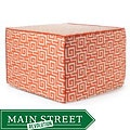 'Orange Puzzle' Outdoor Ottoman