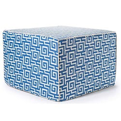 'Blue Puzzle' Outdoor Ottoman