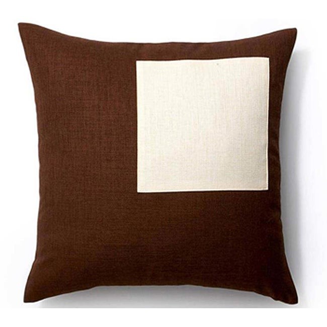 Chocolate/ Vanilla Rebel 20x20-inch Square Outdoor Pillow