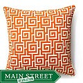 Orange Puzzle 20x20-inch Outdoor Decorative Pillow