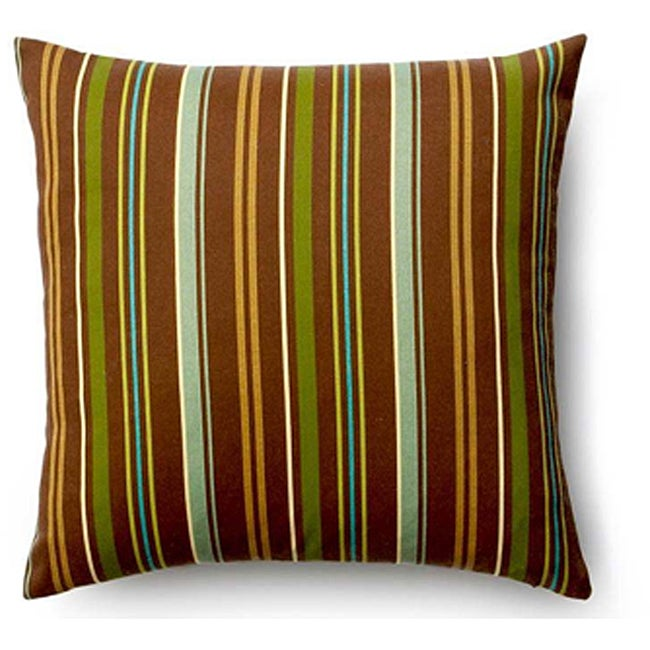 Brown Thin Stripes 20x20-inch Outdoor Pillow