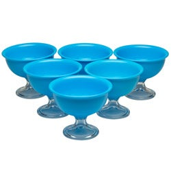 Red Vanilla Blue Summer Ice Cream Bowls (Set of 6)
