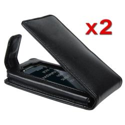 Leather Case with Belt Clip for Microsoft ZUNE HD (Pack of 2)