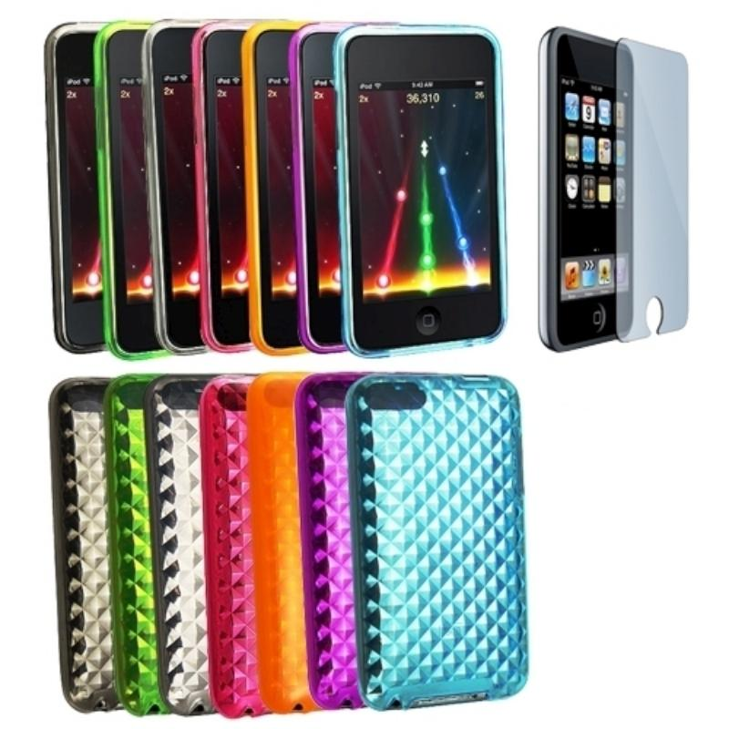 8-piece Cases/ Screen Protector for Apple iPod touch Generation 2/ 3