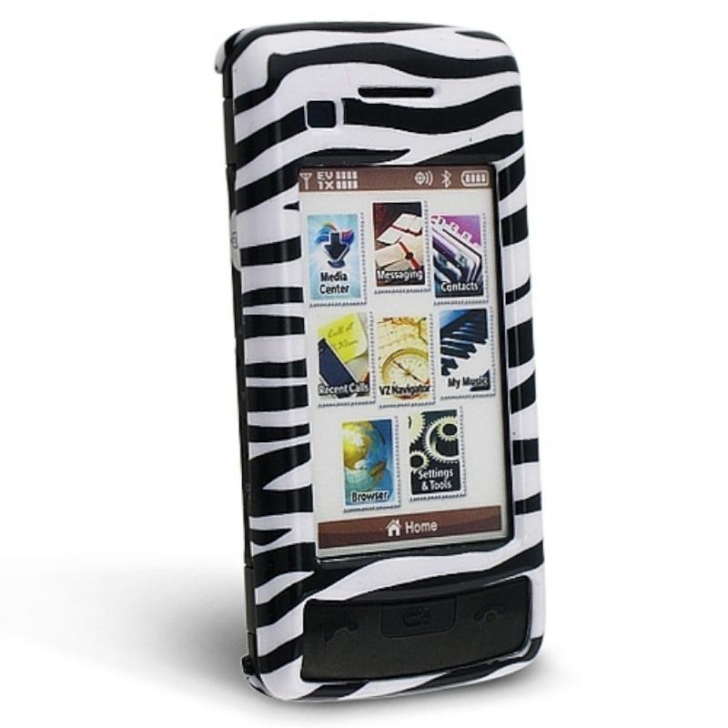 INSTEN White/ Black Zebra Phone Case Cover for LG enV Touch VX11000