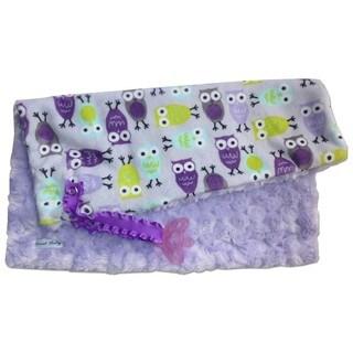 Sweet Ruby 13x13-inch Purple Owl Pacifier Blanket