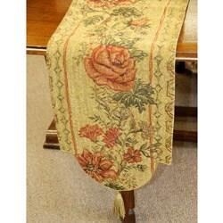 Corona Decor Italian Floral Woven Table Runner