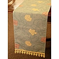 Blue, Rose and Cream Italian Table Runner