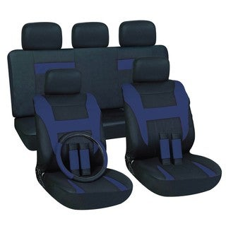 Blue 16-piece Car Seat Cover Set