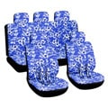 Hawaiian Blue 16-piece Car Seat Cover Set