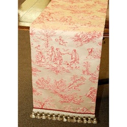 Corona Decor 70-inch Red/ Ivory Italian Woven Table Runner