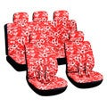 Hawaiian Red 16-piece Car Seat Cover Set