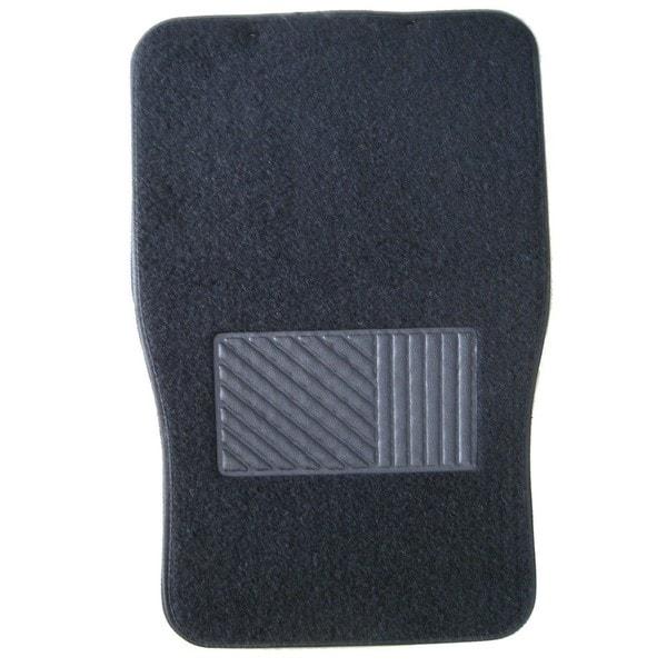 Front and Rear Set 4-piece Black Carpet Car Floor Mat Set