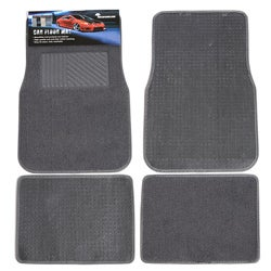 Front and Rear Set 4-piece Grey Carpet Car Floor Mat Set
