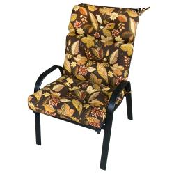 Patio High-back Woodland Floral Chair Cushion