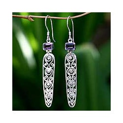 Handcrafted Sterling Silver 'Wisdom' Amethyst Earrings (Indonesia)