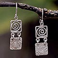 Sterling Silver 'Energy' Dangle Earrings (Peru)