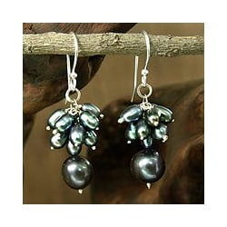 Sterling Silver 'Evening Chic' Pearl Earrings (4.5-7 mm) (India)