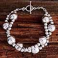 Sterling Silver 'Taxco Dew' Beaded Bracelet (Mexico)