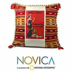 Cotton 'At Her Feet' Cushion Cover (Guatemala)