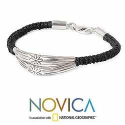 Handcrafted Silver 'Hill Tribe Bouquet' Braided Bracelet (Thailand)