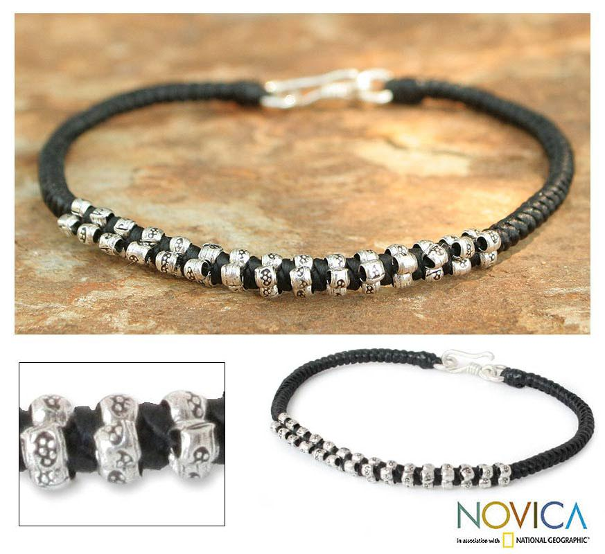 Handcrafted Silver 'Hill Tribe Grace' Braided Bracelet (Thailand)