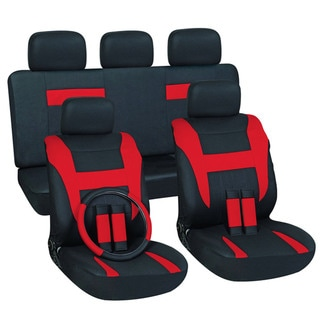 Red 16-piece Car Seat Cover Set